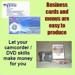 business cards as income